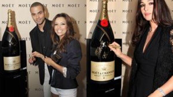 Las actrices forman parte de la lista de celebridades y cineastas que participarán en la firma de una de las botellas de champagne Moët que serán donadas de manera caritativa a instituciones sociales