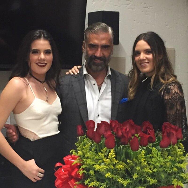 Alejandro Fernández cumplió años ayer, por lo que recibió de sus hijas y su papá unos lindos mensajes de felicitación.