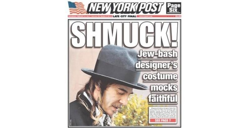El diseñador de modas John Galliano no se dejó ver en la Semana de la Moda de Nueva York, pero de todas formas se convirtió en encabezado.