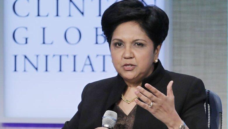 Presidenta y CEO de Pepsico desde 2006, empresa con 22 marcas que generan más de 1,000 millones de dólares al año en ventas.