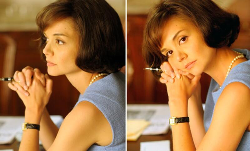 Natalie no es la primera en interpretar a Jackie; en el pasado Katie Holmes dio vida al mismo personaje en la mini serie The Kennedys (2011).