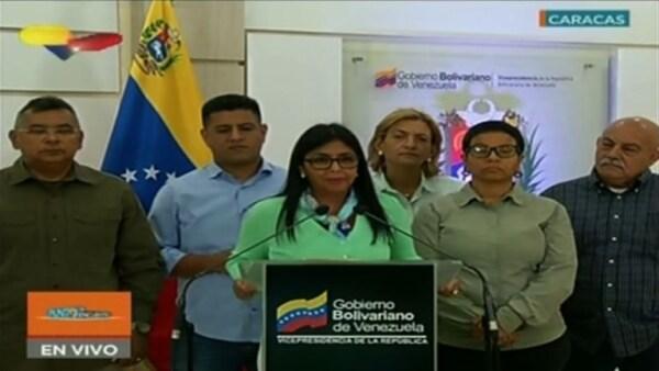 Delcy Rodriguez Manifestaciones Venezuela