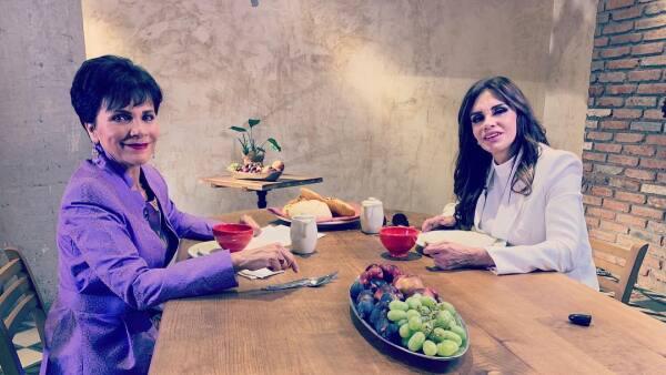 Pati Chapoy y Lucía Méndez