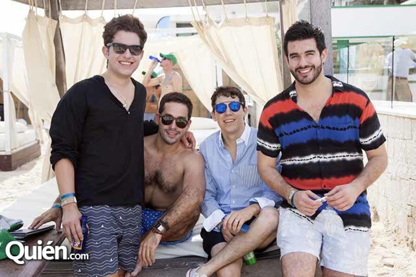 Pablo Escanero,Claudio Simpson,Beto Dajer y Bernardo González