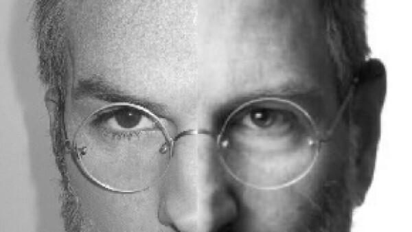 En la fotografía publicada en Twitter se aprecian mínimas diferencias entre el rostro del fundador de Apple y el del actor.