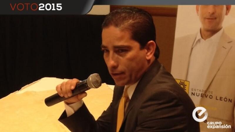 candidato del PRD al gobierno de Nuevo León