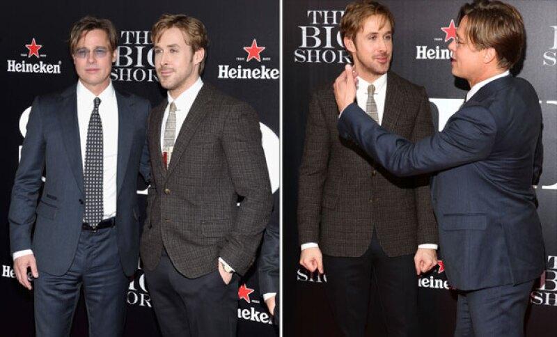 """A su paso por la alfombra roja en la premiere de """"The Big Short"""" el par de guapos se robaron el spotlight, pero ¿quién brilló más que el otro?"""