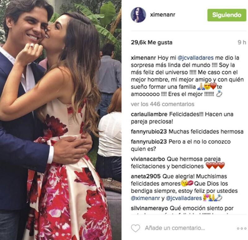 La ex Miss Universo no dudo en compartir su felicidad en Instagram