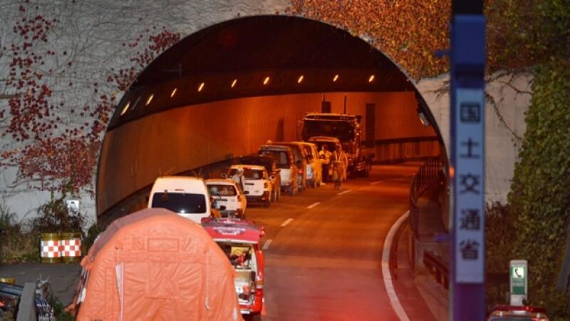 Japón, túnel derrumbe