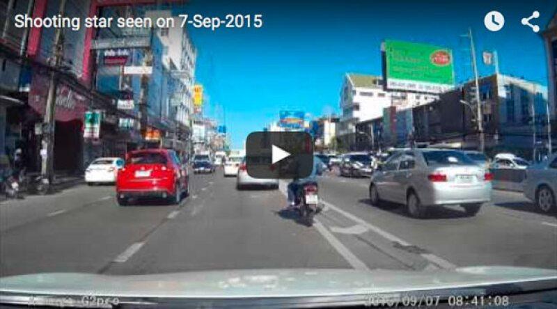 Desde hace unas horas comenzó a circular un video en el que se capta justo el momento cuando cae una bola de fuego en la capital de Tailandia, generando sensación en internet.