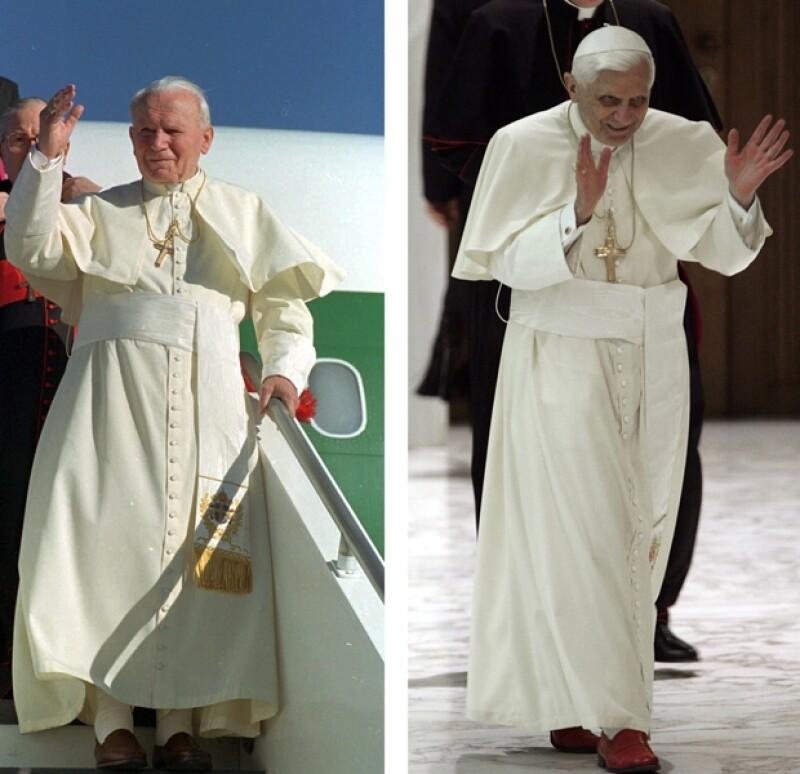 Benedicto XVI tiene gran predilección por los mocasiones rojos confeccionados a mano en Novara por el artesano Adriano Stefanelli.