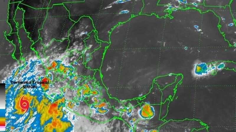 La tormenta tropical ?Simon? se localizó a 515 kilómetros al sur-sureste de Cabo San Lucas, Baja California Sur