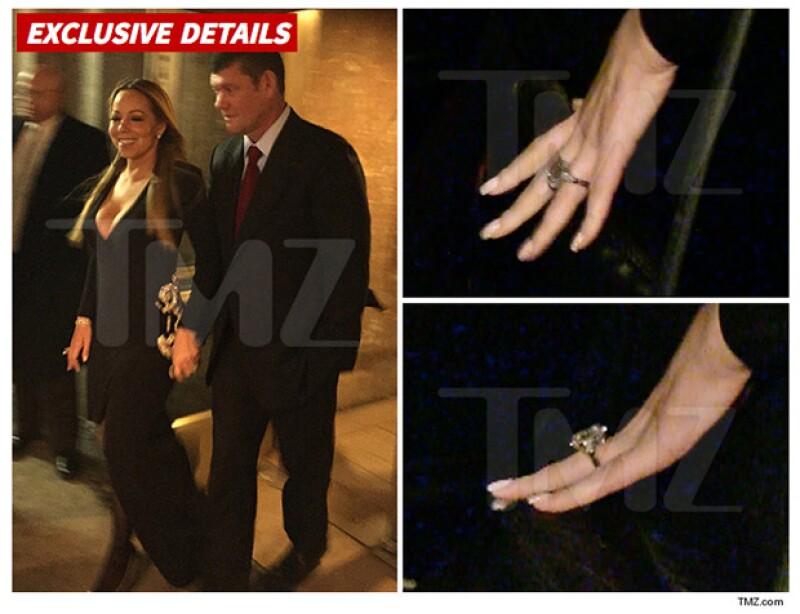 Este es el anillo, del que aseguran vale casi 8 millones de dólares, que James le dio a Mariah.
