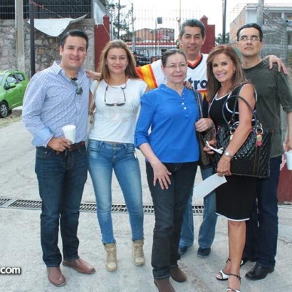 Bernardo Herrera,Claudia Castañeda,Víctor Ramos,Gabriel Ramos,Gloria Pineda y Lucy Díaz De León
