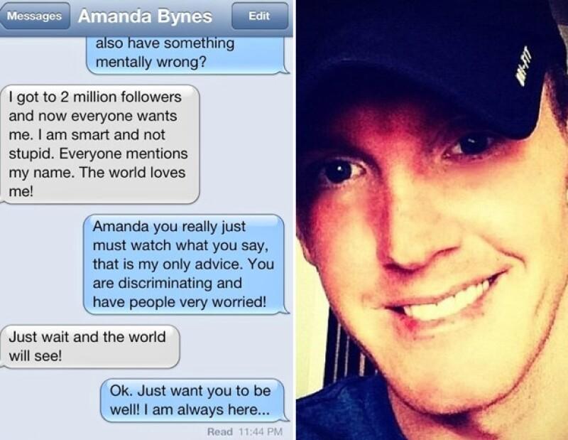 La supuesta conversación que tuvo Amanda con Jonathan.
