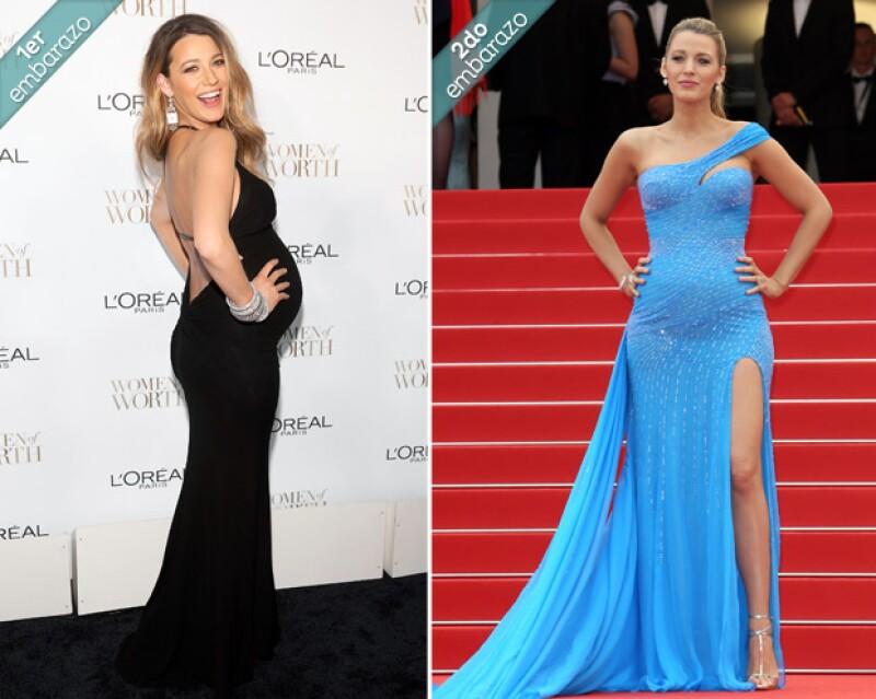 En la primera se ve Blake en la entrega de los Premios Women in Worth de LOreal París y en la segunda durante la presentación de THE BFG, la nueva película de Steven Spielbger en Cannes 2016.