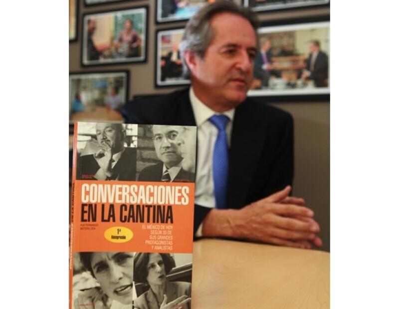 El político conversó con grandes personajes de la política mexicana actual en dichas cavas populares para realizar su último libro.