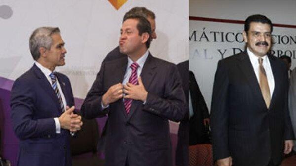 El jefe de Gobierno de la Ciudad de México (izquierda), el gobernador del Estado de México (centro) y el mandatario de Hidalgo. (Foto: Cuartoscuro )