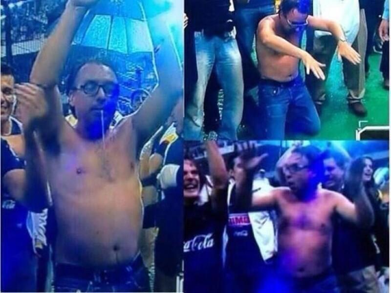 """El dueño de Televisa dio mucho de qué hablar por la forma en la que celebró ayer el campeonato de su equipo en el torneo de liga; frases como """"pierdo el estilo como Azcárraga"""" se leen en Twitter."""