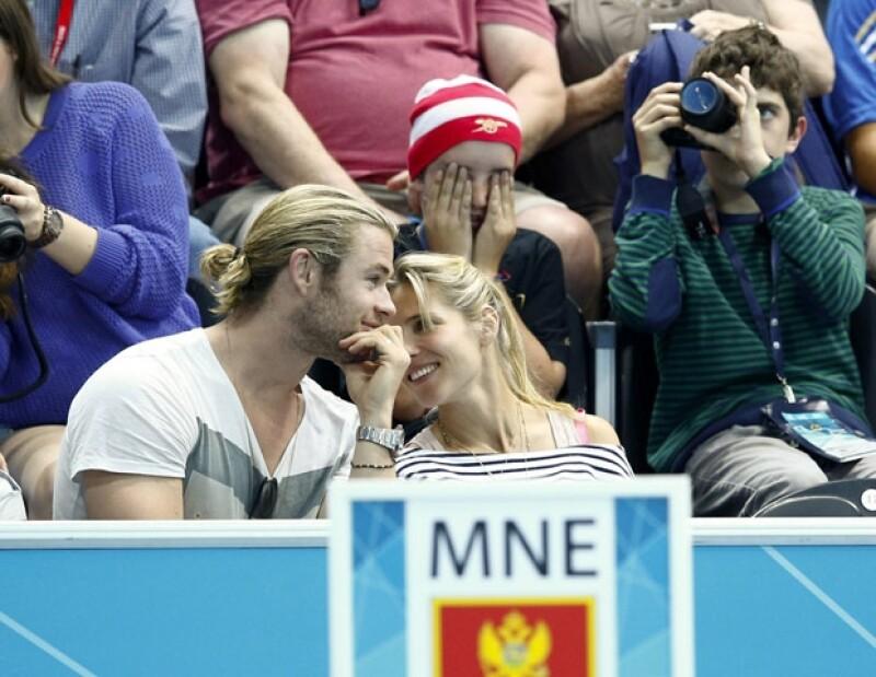 La pareja disfrutó de los cuartos de final del partido de Waterpolo, entre España y Montenegro.
