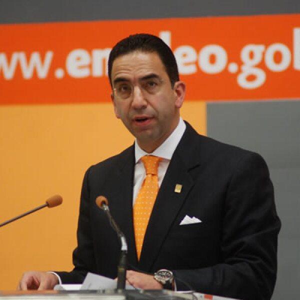 La Secretaría del Trabajo y Previsión Social (STPS) negó el lunes 5 a Martín Esparza la toma de nota como secretario general del Sindicato Mexicano de Electricistas (SME) y a su comité central. En esta foto, el titular de la STPS Javier Lozano.