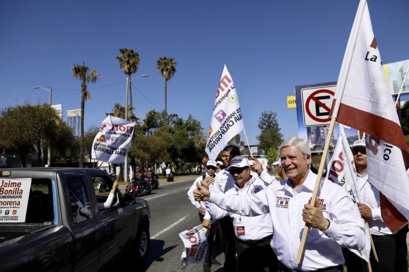 Jaime Bonilla inicia campaña en Baja California