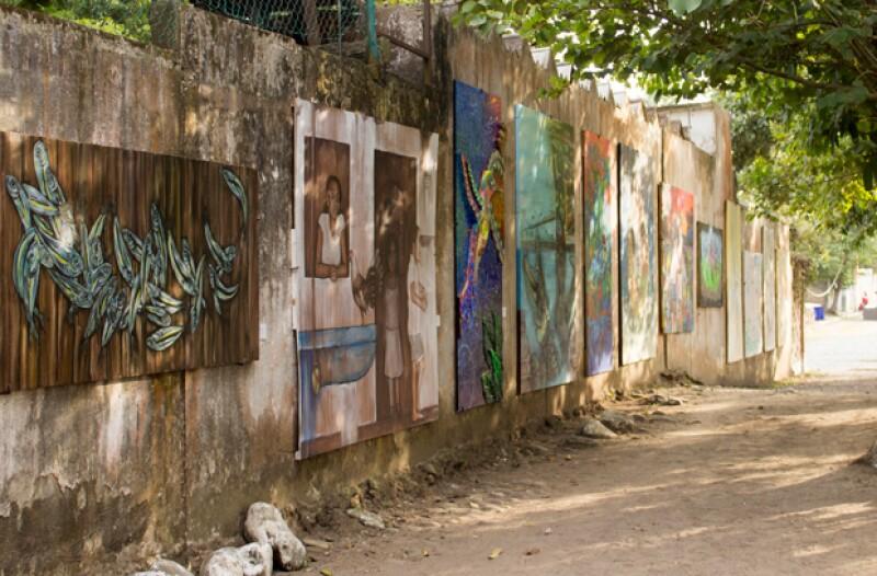 El Callejón de los Artistas alberga todas las obras de los artistas que residen durante un tiempo en VeracruzANA.