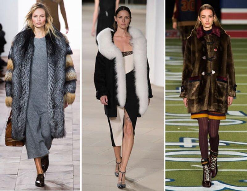 Los sacos de fur son esenciales para el invierno. Lo oversize del saco le otorga una nueva dimensión a tu look. Nos encantan las opciones de Michael Kors, Prabal Gurung y Tommy Hilfiger.