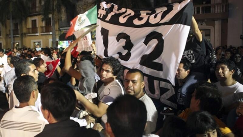 Yosoy132 se manifiesta en veracruz, 15 de septiembre
