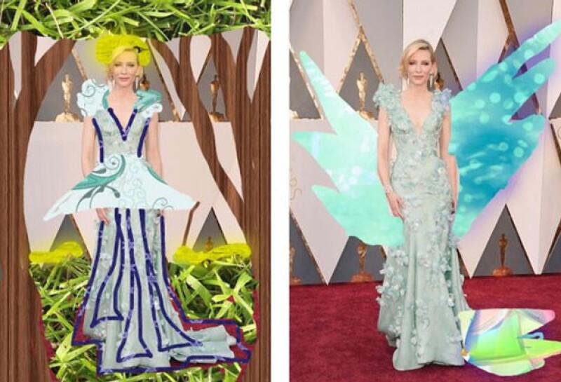 Cate Blanchett lució como una hada madrina… aunque no sabemos si eso es bueno o malo.