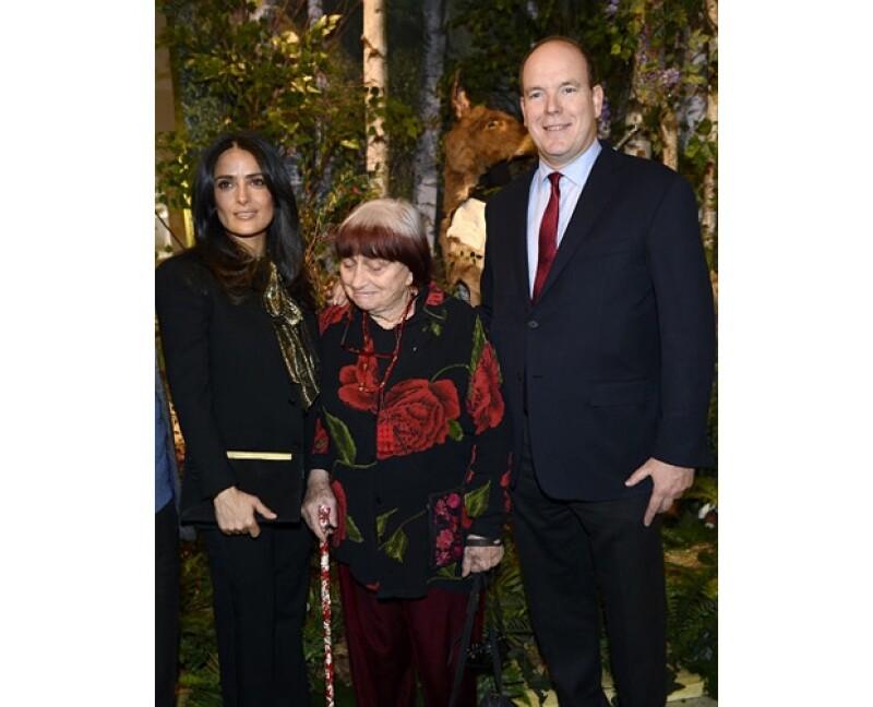 La actriz mexicana y el esposo de Charlene asistieron a la exposición del cineasta Jacques Demy en donde también estuvo presente su esposa, la reconocida directora Agnes Varda.