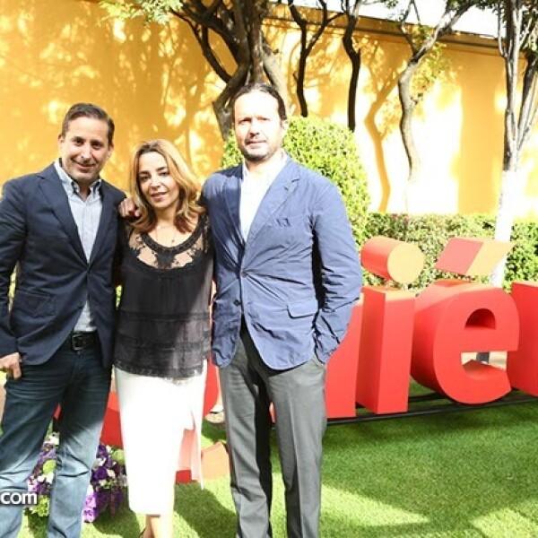 Moisés Micha,Luisa Serna y Eduardo Prieto