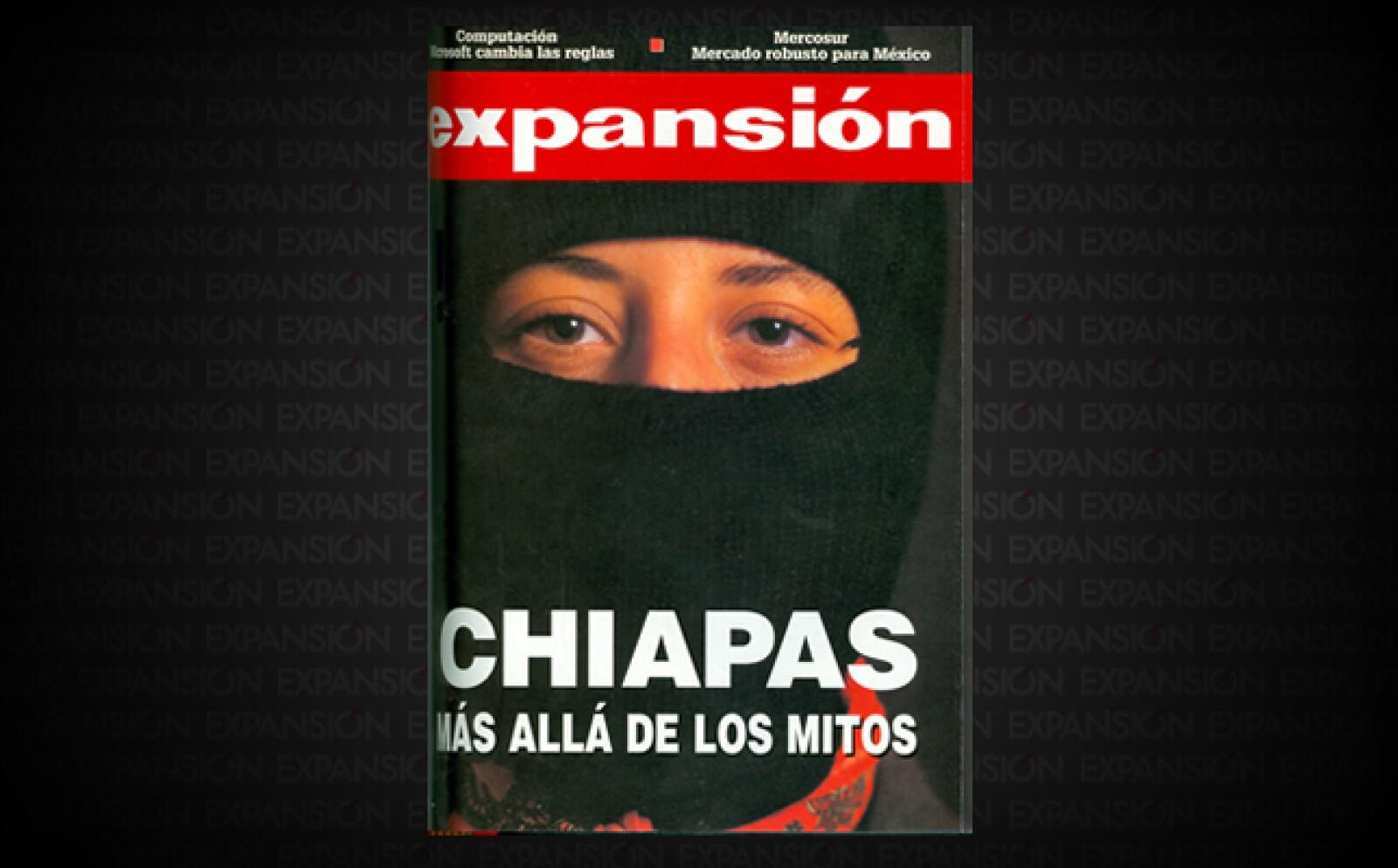 """""""Chiapas no debería ser pobre"""", rezaba el editorial. El reportaje mostraba al Chiapas que """"proporciona al país energía eléctrica, petróleo y gas""""-, pero  """"con uno de los niveles de infraestructura más bajos de México""""."""