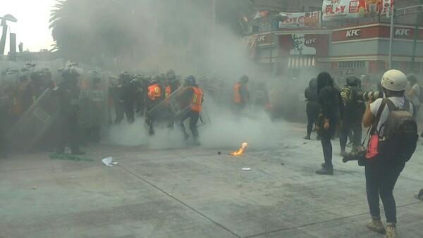 Así se vivieron los choques en la marcha por el aborto en México