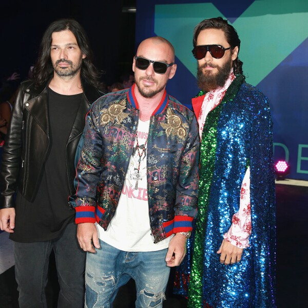 Tomo Milicevic, Shannon Leto y Jared Leto de Thirty Seconds to M