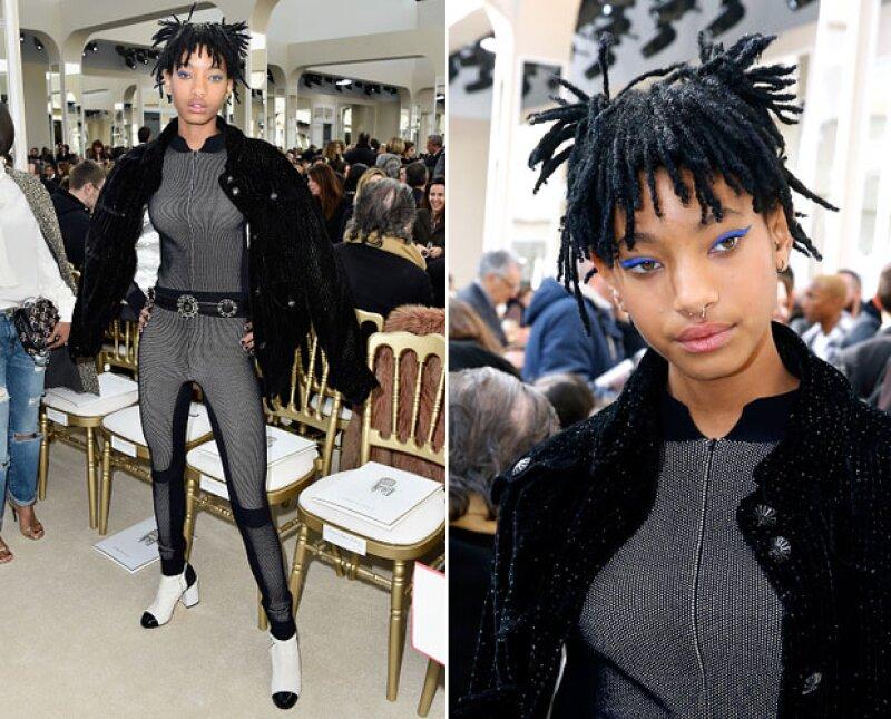 La hija de Will y Jada Smith asistió hoy a la pasarela de Chanel para conocer la colección Otoño-Invierno 2016.