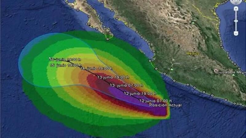 Huracán Cristina categoría II