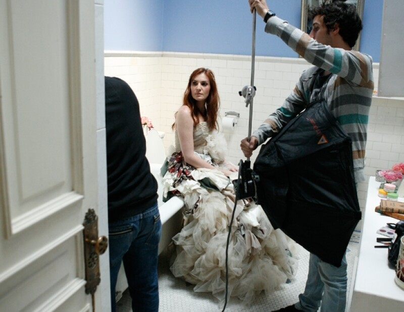 Para el shooting de la marca Ponds, Angie presumió piezas de Alexia Ulibarri.