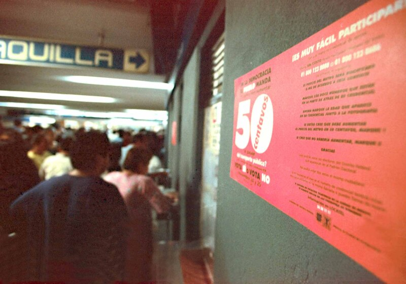 Consulta precio de boleto del Metro