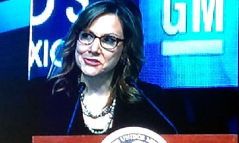 La directora ejecutiva de la automotriz estadounidense, Mary Barra (Foto: CNNExpansión )