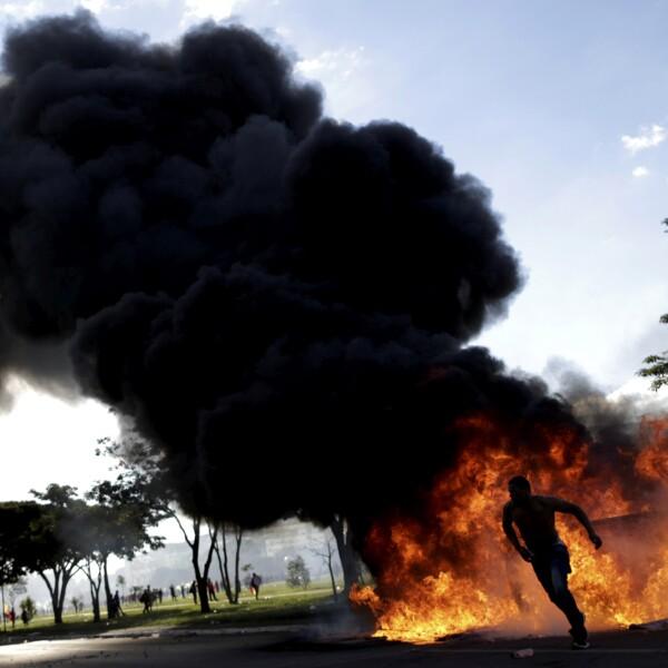Manifestación en Brasil
