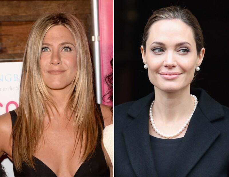 """La actriz de """"Friends"""" quedó consternada cuando se enteró de la doble mastectomía a la que se sometió Angelina por lo que quiere limar asperezas."""