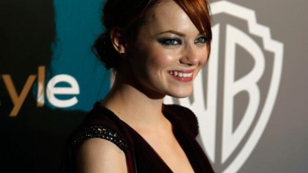 Emma Stone brilló por su belleza.