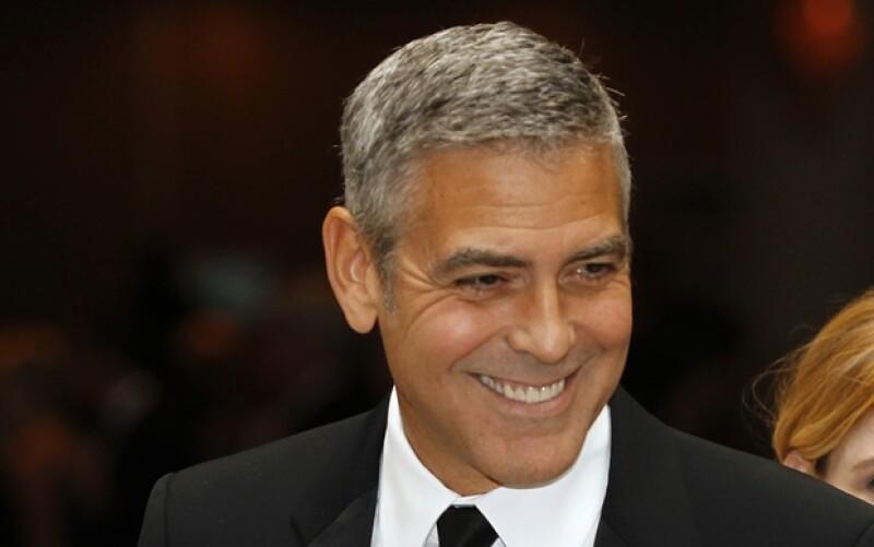 George Clooney también acudió a la cena, el 28 de abril, que cada año hace Obama en la Casa Blanca.