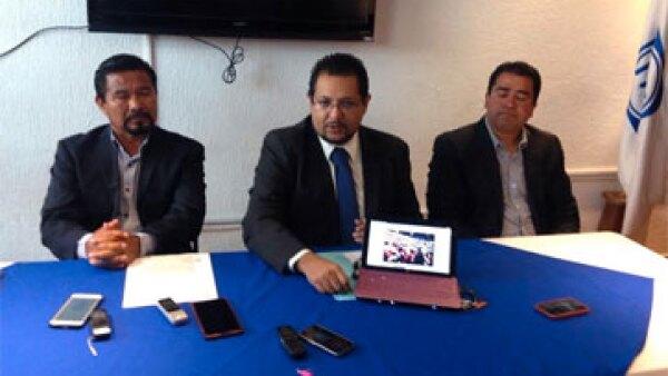 El secretario general del PAN, Juan Alejandro Enríquez Pérez, anunció que se solicitaron los detalles de gastos de registro y ratificación del candidato priista. (Foto: Víctor Valera )