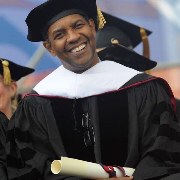 En mayo de 2011 Denzel Washington recibió su diploma por parte de la Universidad de Pennsylvania.