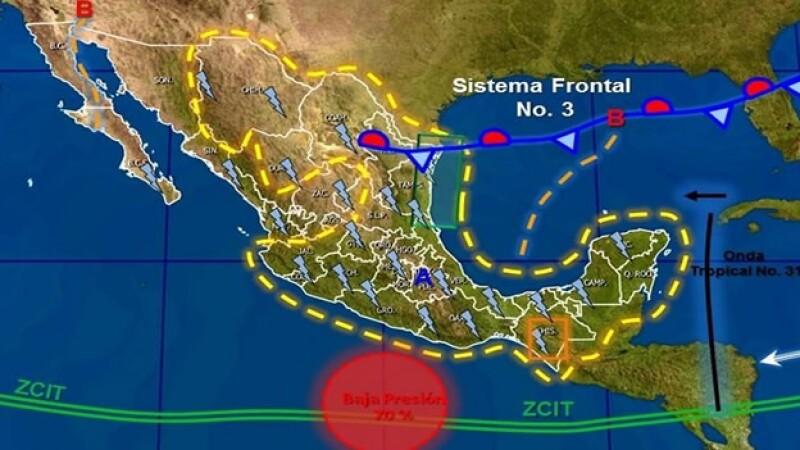 Lluvias en México 23 septiembre 2014
