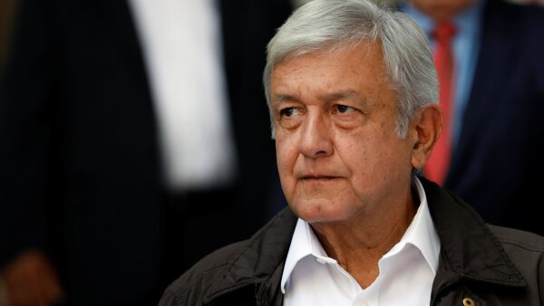 Mexico's president-elect Andres Manuel Lopez Obrador looks on during a news conference at his campaign headquarters in Mexico City