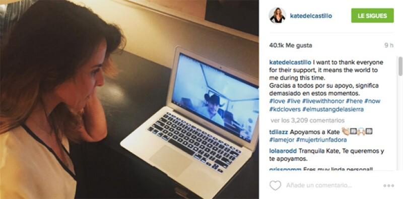 Kate del Castillo publicó un mensaje agradeciendo el apoyo de sus seguidores.