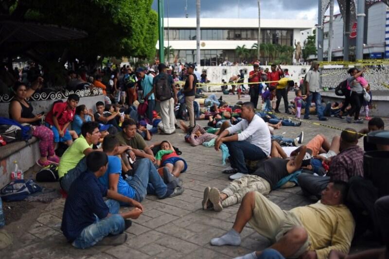 Migrantes de Honduras en México